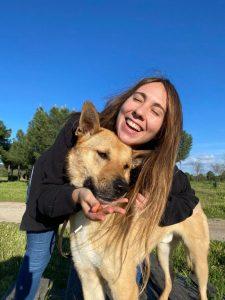 Balder llegó a la vida de Julia desde un refugio canino